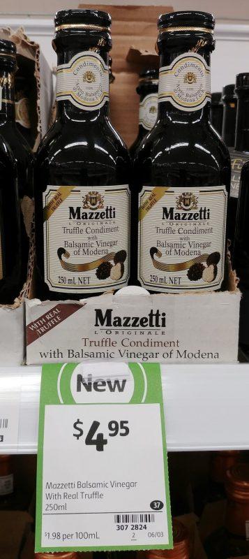 Mazzetti 250mL Truffle Condiment With Balsamic Vinegar Of Modena
