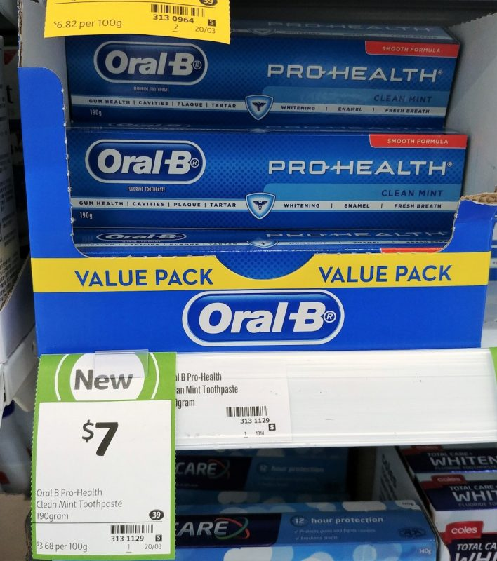 Oral B 190g Toothpaste Pro Health Clean Mint