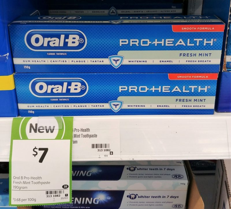 Oral B 190g Toothpaste Pro Health Fresh Mint