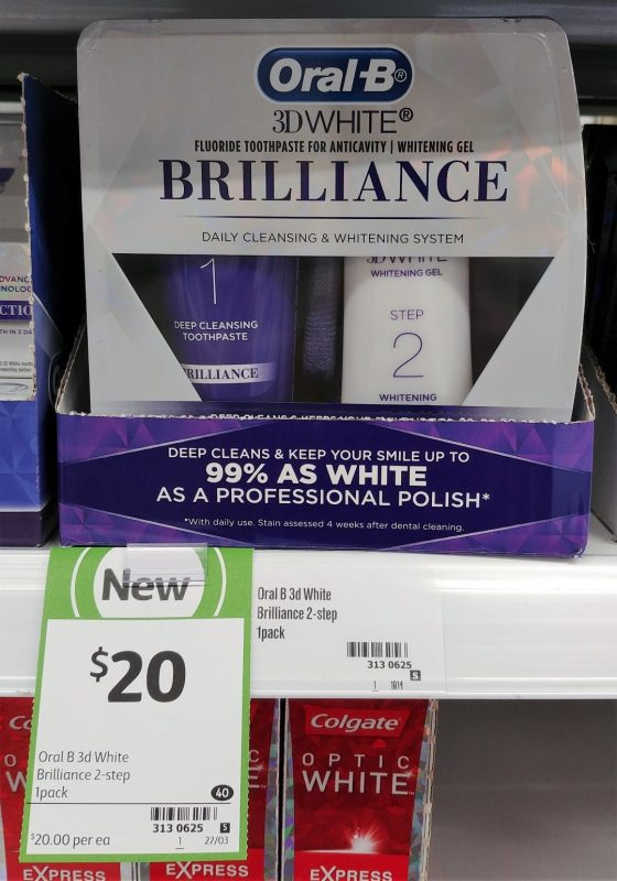 Oral B 1pk 3D White Brilliance Daily Cleansing & Whitening System