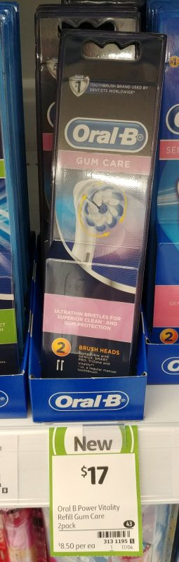 Oral B 2pk Brush Heads Gum Care