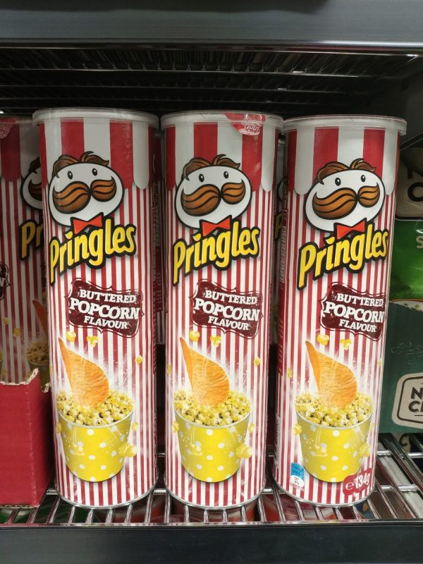 Pringles 134g Buttered Popcorn Flavour