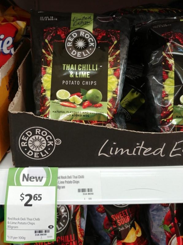 Red Rock Deli 80g Thai Chilli & Lime Potato Chips