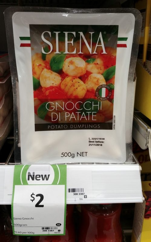 Siena 500g Gnocchi Potato Dumplings