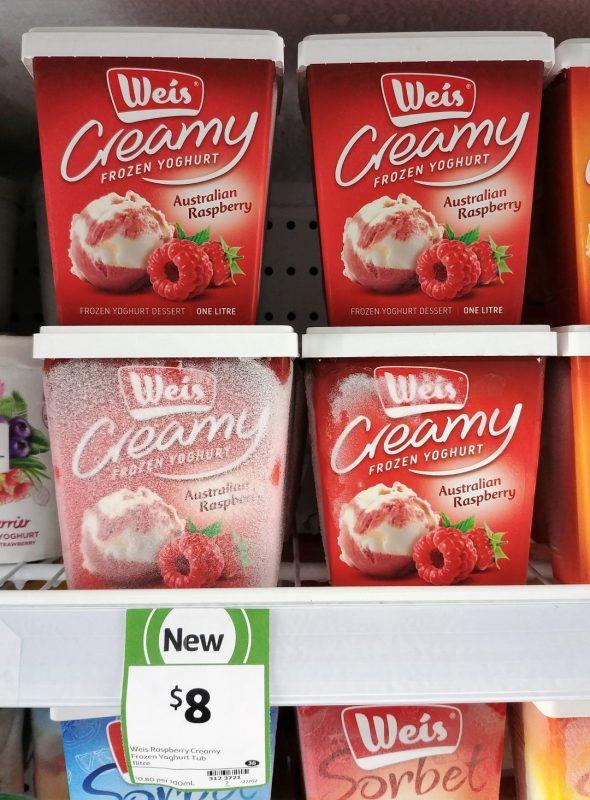 Weis 1L Frozen Yoghurt Australian Raspberry