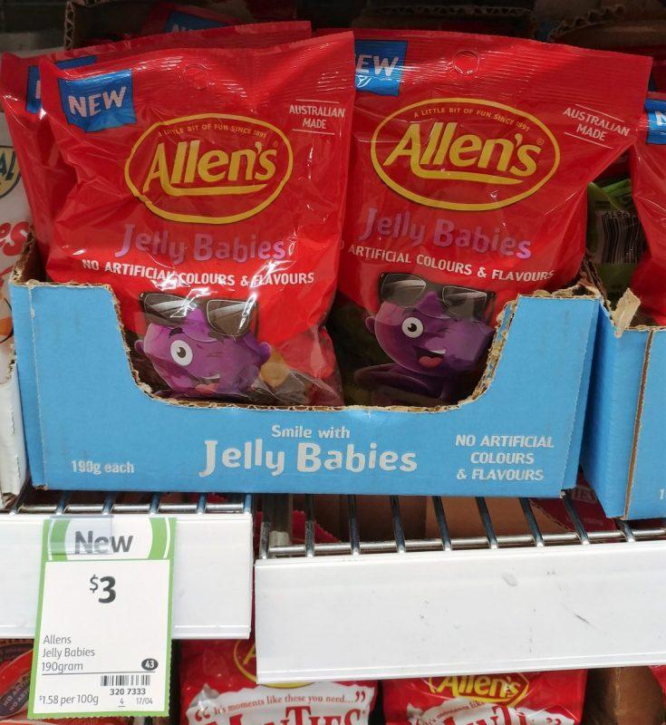 Allen's 190g Jelly Babies