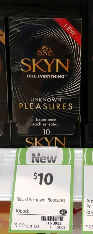 Ansell 10 Pack Condoms Unknown Pleasures