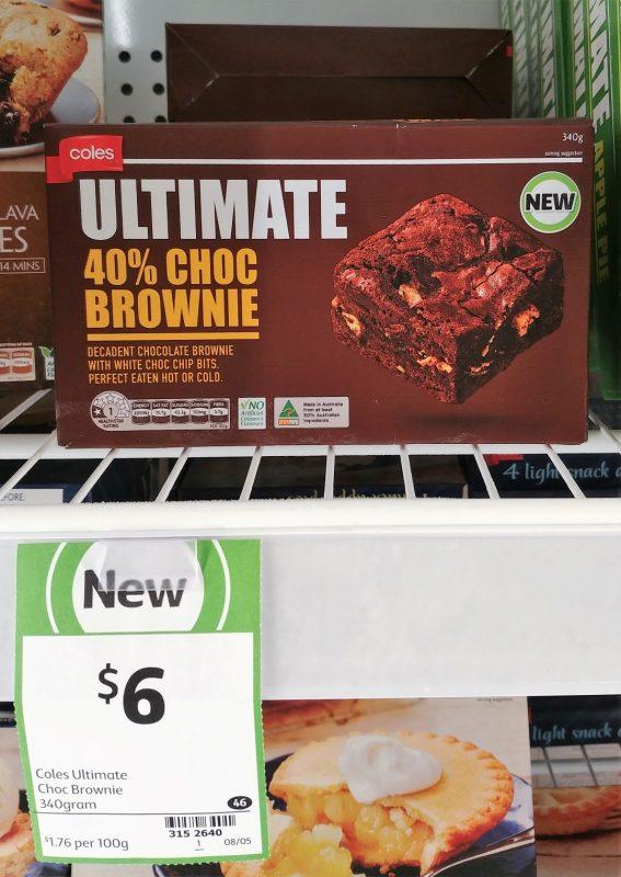 Coles 340g Ultimate 40% Choc Brownie