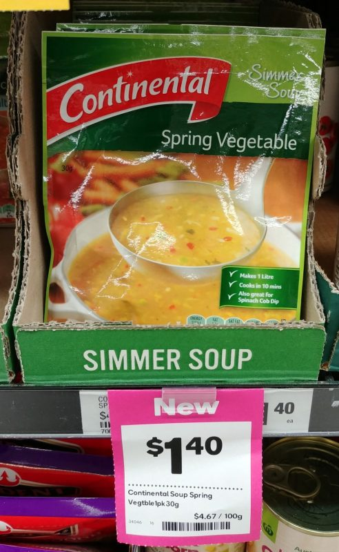 Continental 30g Simmer Soup Spring Vegetable