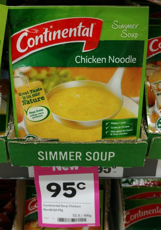 Continental 45g Simmer Soup Chicken Noodle