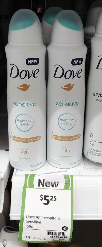 Dove 169mL Antiperspirant Sensitive