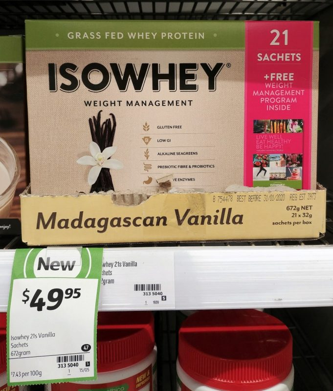Isowhey 672g Weight Management Madagascan Vanilla
