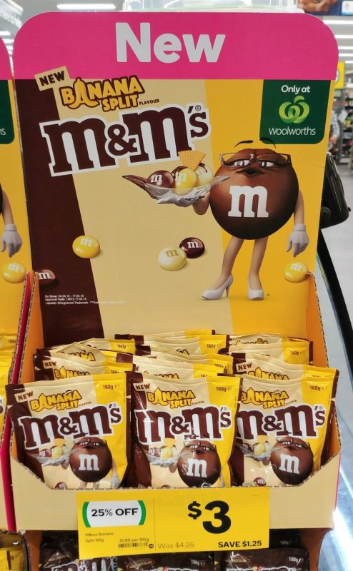 M&M's 160g Banana Split Flavour