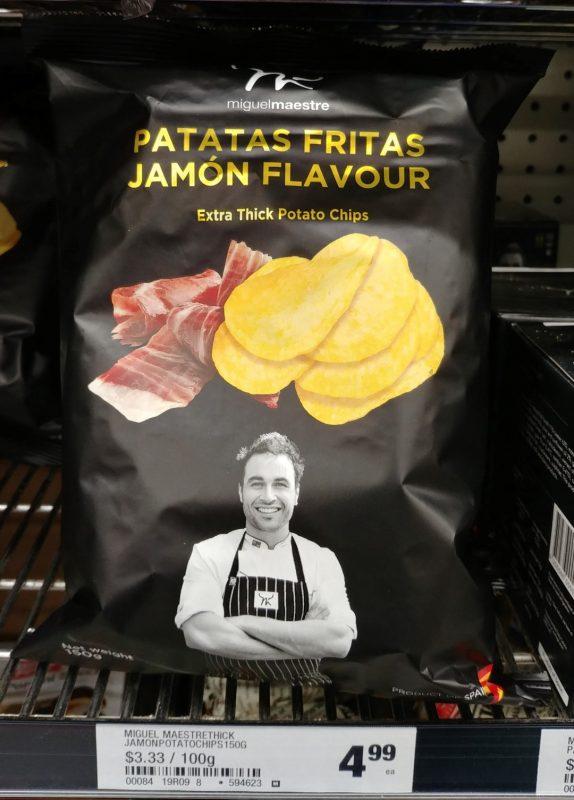 Miguel Maestre 150g Patatas Fritas Jamon Flavour Extra Thick Potato Chips