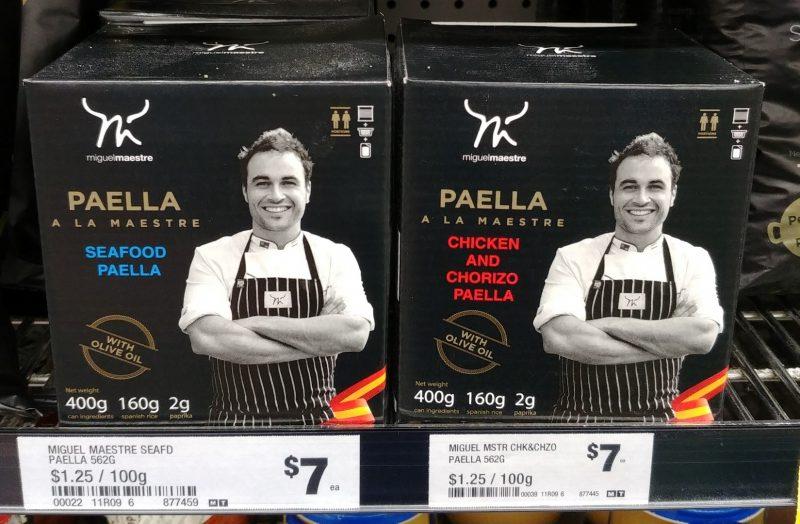 Miguel Maestre 562g Paella A La Maestre Seafood Paella, Chicken And Chorizo Paella