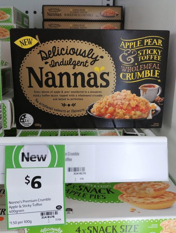 Nanna's 400g Wholemeal Crumble Apple, Pear & Sticky Toffee