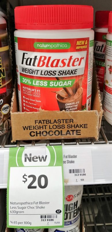Naturopathica 430g Fat Blaster Weight Loss Shake Choc