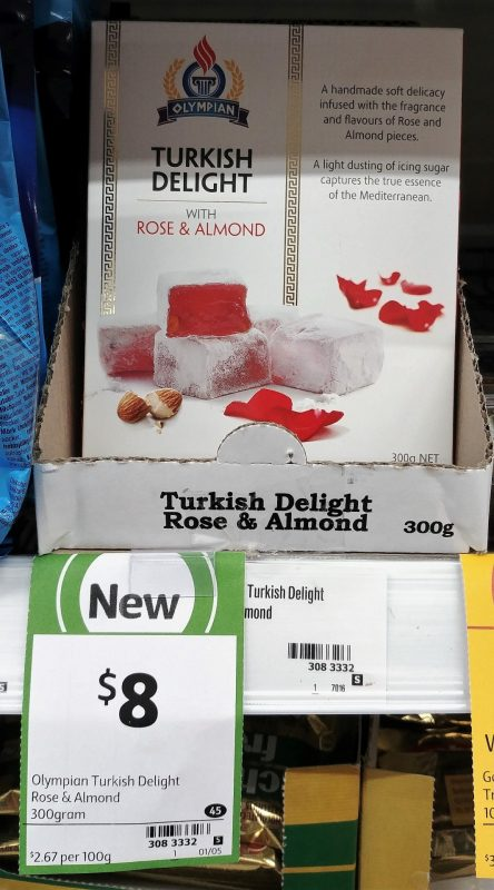 Olympian 300g Turkish Delight With Rose & Almond