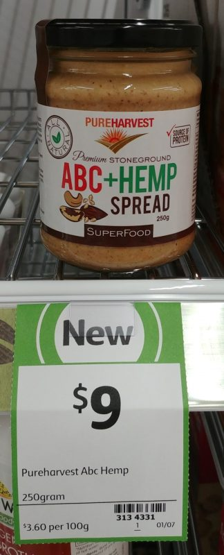 Pure Harvest 250g Superfood ABC+Hemp Spread