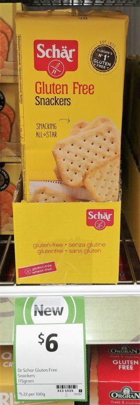 Schar 115g Gluten Free Snackers