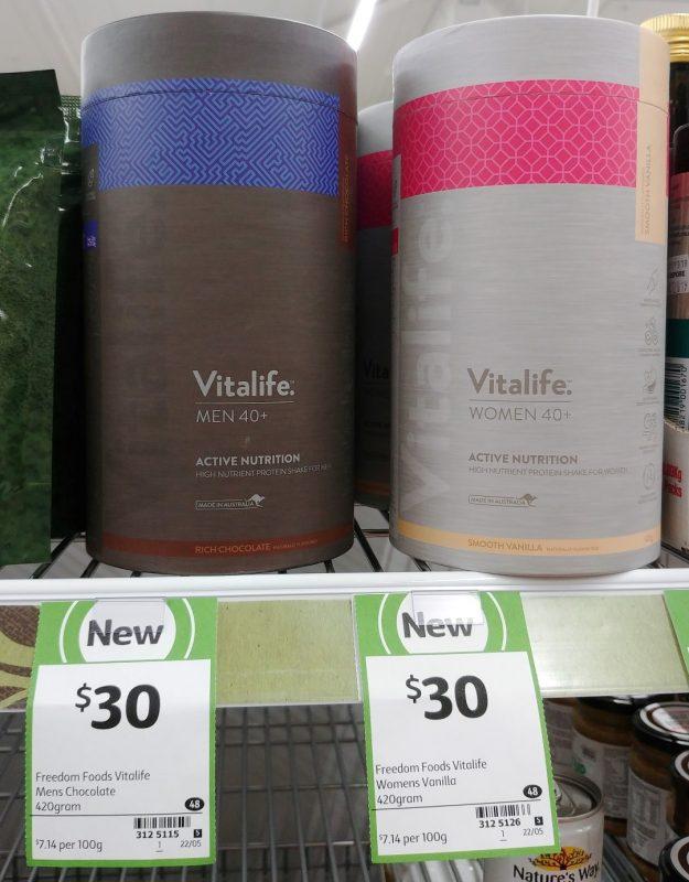 Vitalife 420g Protein Shake Mens Rich Chocolate, Womens Smooth Vanilla