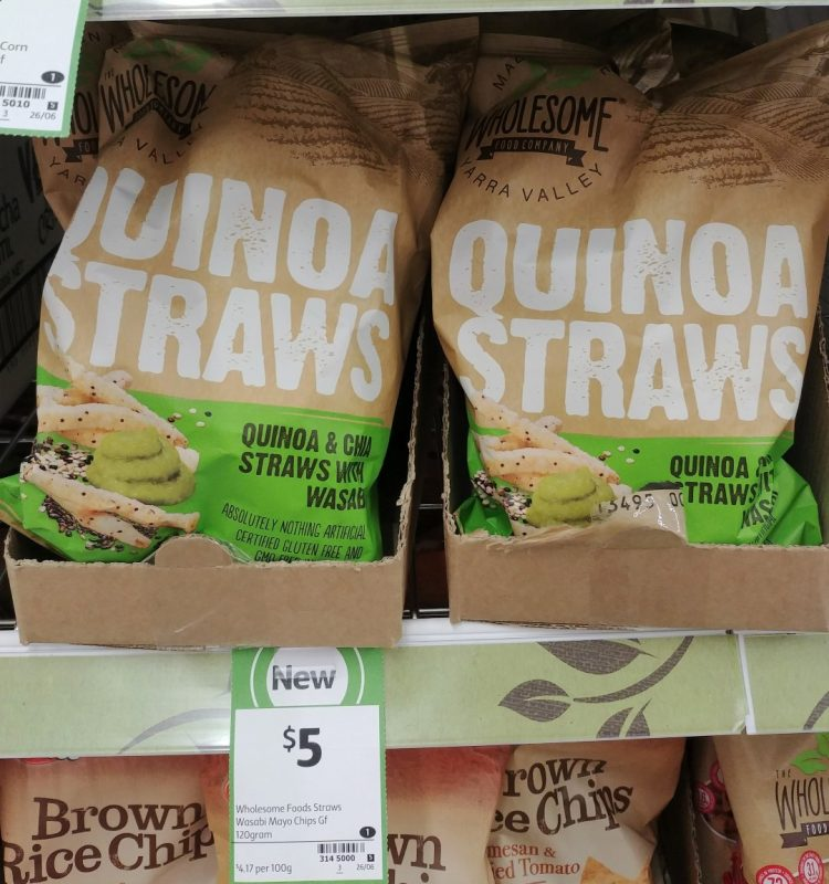 Wholesome Food Company 120g Quinoa Straws Quinoa & Chia