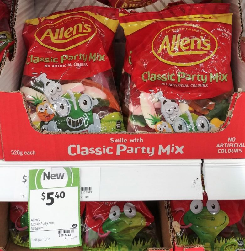 Allen's 520g Lollies Classic Party Mix