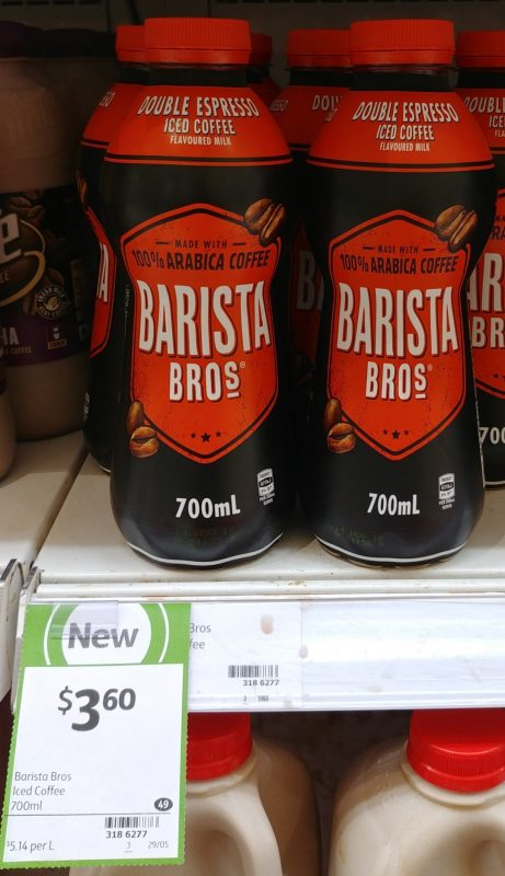 Barista Bros 700mL Iced Coffee Flavoured Milk Double Espresso