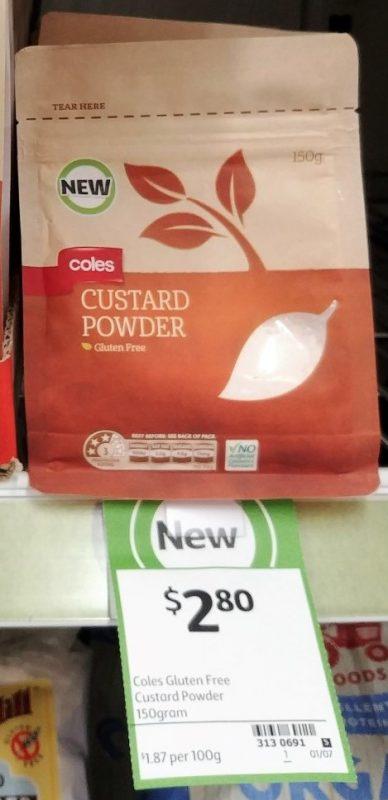Coles 150g Custard Powder