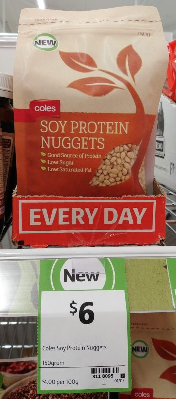 Coles 150g Soy Protein Nuggets