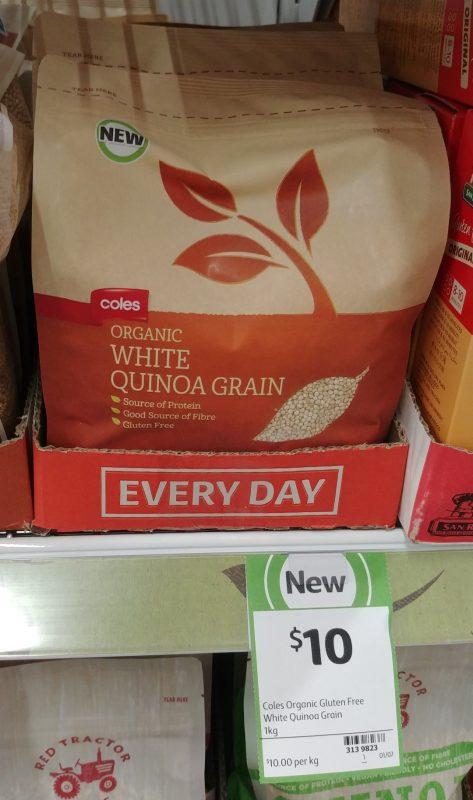 Coles 1kg Organic White Quinoa Grain