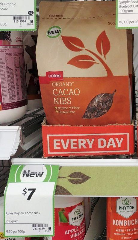 Coles 200g Organic Cacao Nibs