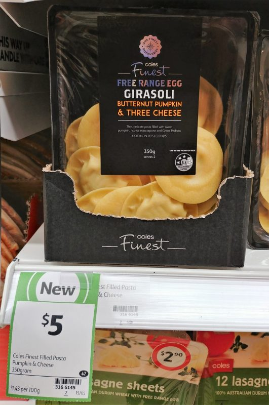 Coles 350g Finest Girasoli Butternut Pumpkin & Three Cheese