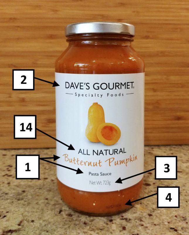 Dave's Gourmet 723g Butternut Pumpkin Pasta Sauce Front