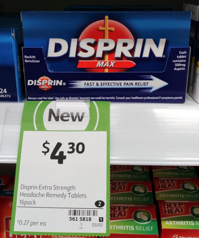 Disprin 16 Pack Max