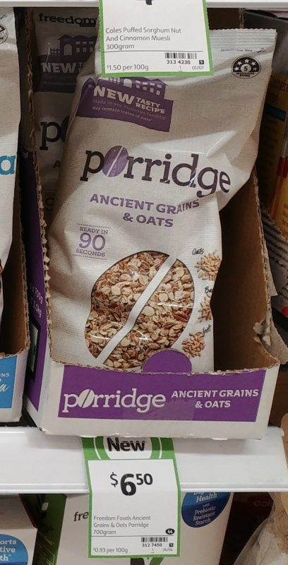 Freedom Foods 700g Porridge Ancient Grains & Oats