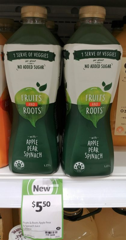 Fruits And Roots 1.25L Apple Pear Spinach