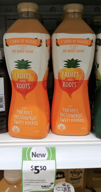 Fruits And Roots 1.25L Pineapple Passionfruit Sweet Potato