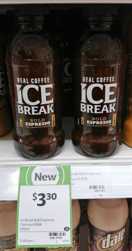 Ice Break 500mL Iced Coffee Milk Bold Espresso