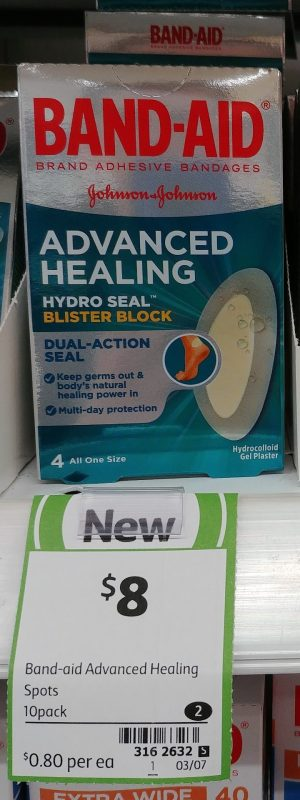 Johnson & Johnson 10 Pack Band Aid Advanced Healing Hydro Seal Blister Block