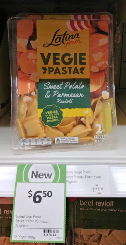 Latina Fresh 325g Vegie Pasta Ravioli Sweet Potato & Parmesan