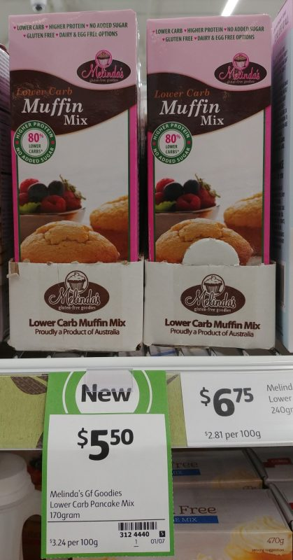 Melinda's Gluten Free Goodies 170g Lower Carb Muffin Mix