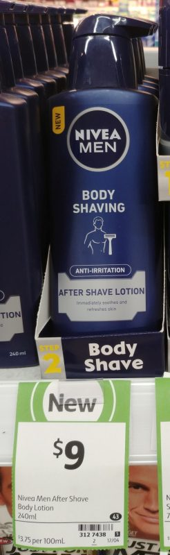 Nivea 240mL Men Body Shaving After Shave Lotion