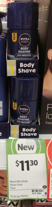 Nivea 75mL Men Body Shaving