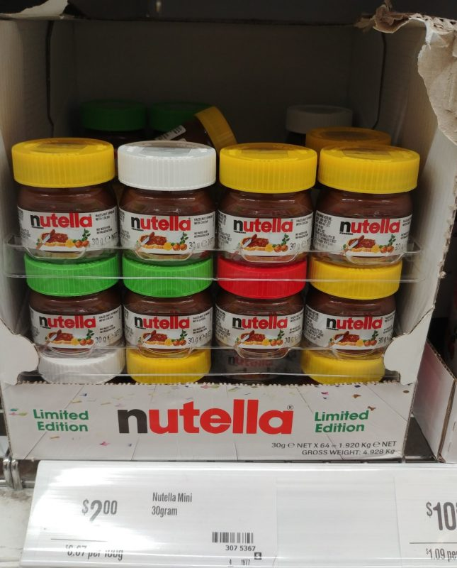 Nutella 30g Mini Hazelnut Limited Edition