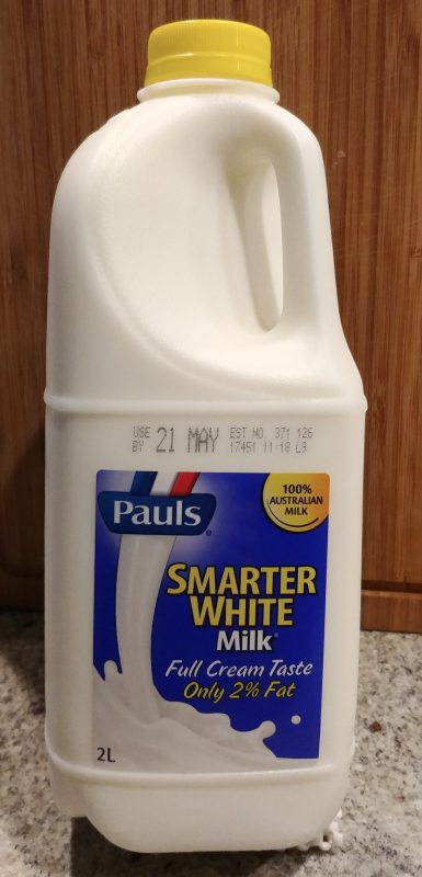 Pauls 2L Milk Smarter White 2% Fat Front Bottle