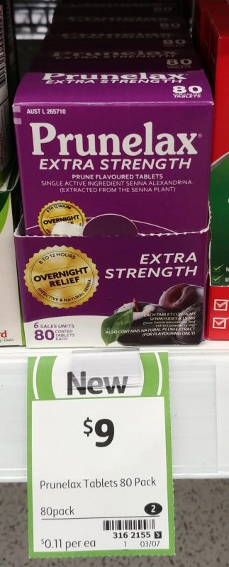 Prunelax 80 Pack Extra Strength Prune Flavoured