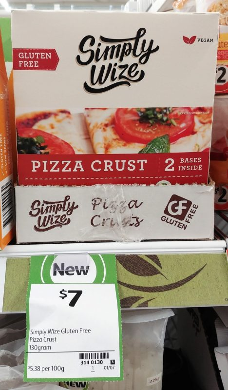 Simply Wize 130g Gluten Free Pizza Crust