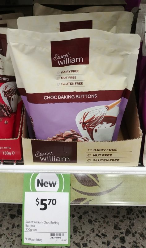 Sweet William 300g Choc Baking Buttons