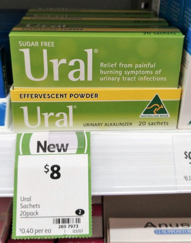 Ural 20 Pack Sugar Free Urinary Alkalinizer
